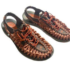 Keen Uneek Corded Hiking Sandals size 10 EUC